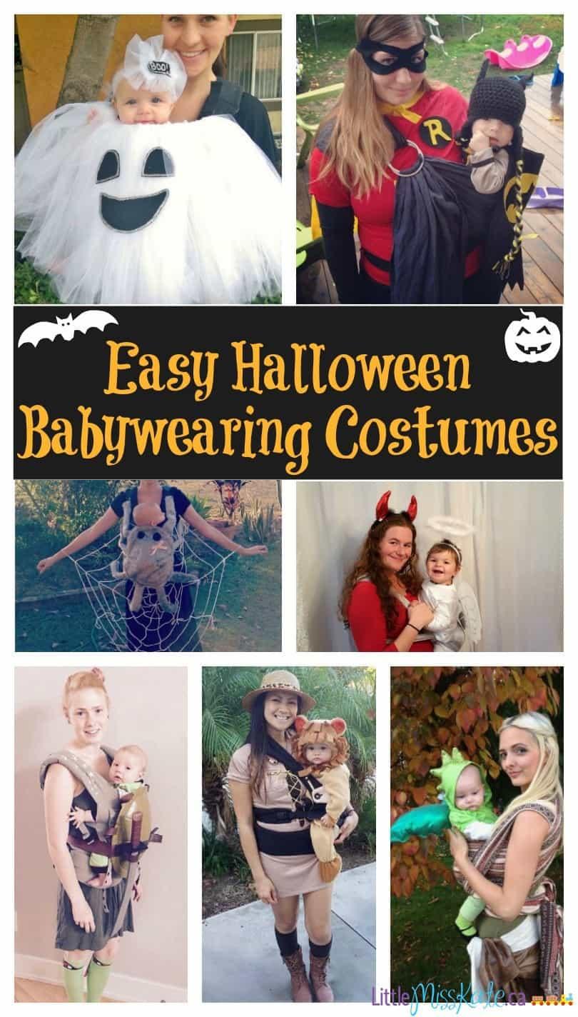 Easy bbabywearing halloween costume ideas