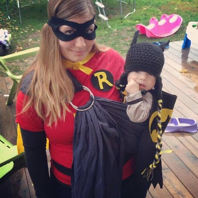 Mom and Baby Costume ideas - batman and robin