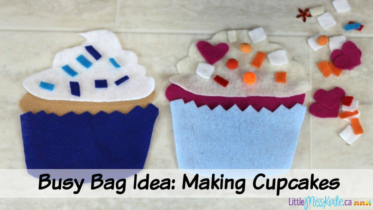 Busy Bag Idea For Fine Motor Skills and Counting – Making Cupcakes