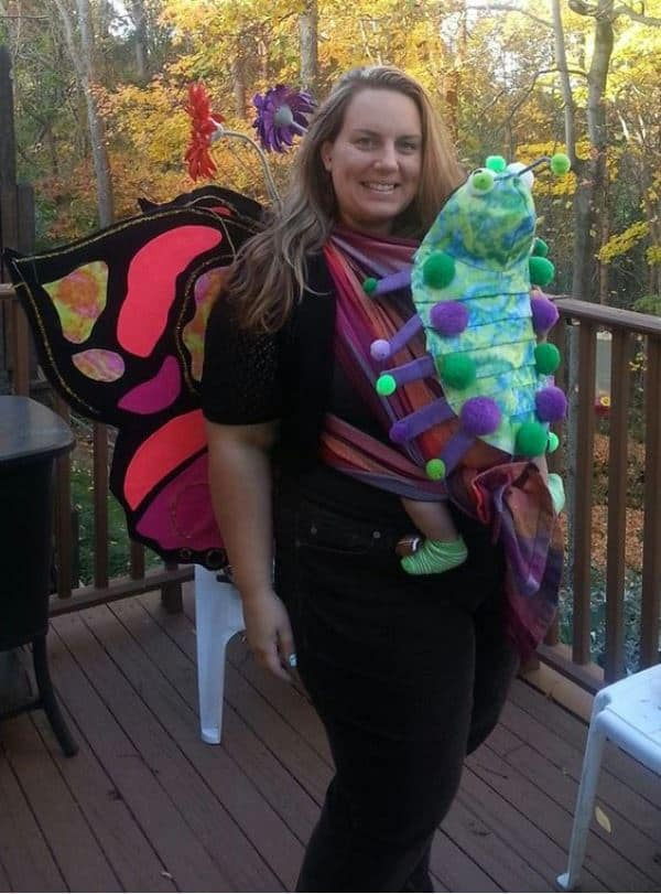 Butterfly and Caterpillar babywearing costume ideas via littlemisskate.ca