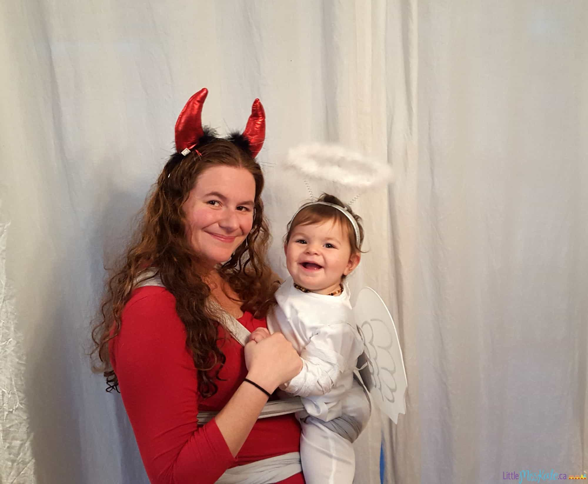 Mom and Baby Costume ideas - devil and angel