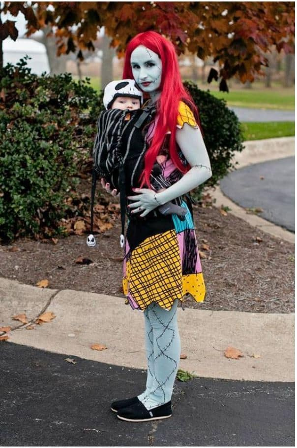 nightmare before christmas jack sally babywearing costumes ideas baby carrier costume