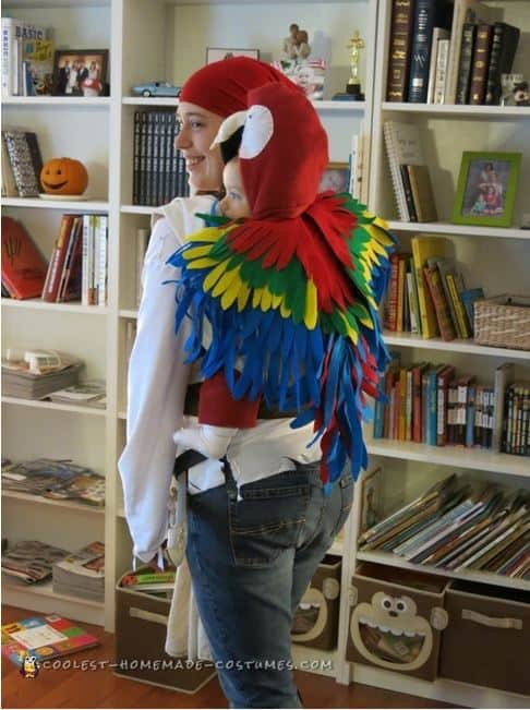 Mom and Baby Costume ideas - parrot and pirate