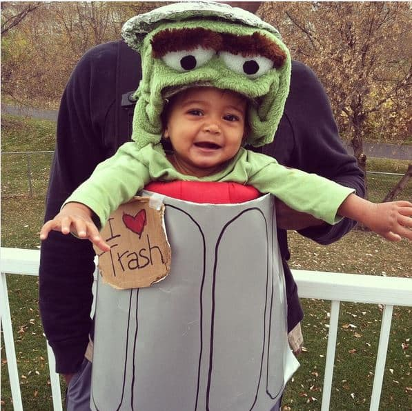 Sesame Street Oscar babywearing costume ideas via littlemisskate.ca