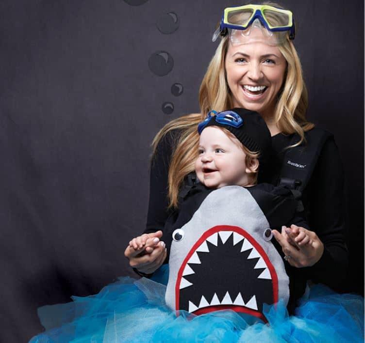Shark babywearing costume ideas via littlemisskate.ca