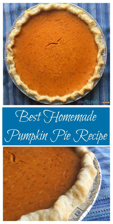 Best Homemade Pumpkin Pie Recipe with Canned Pumpkin Recipe