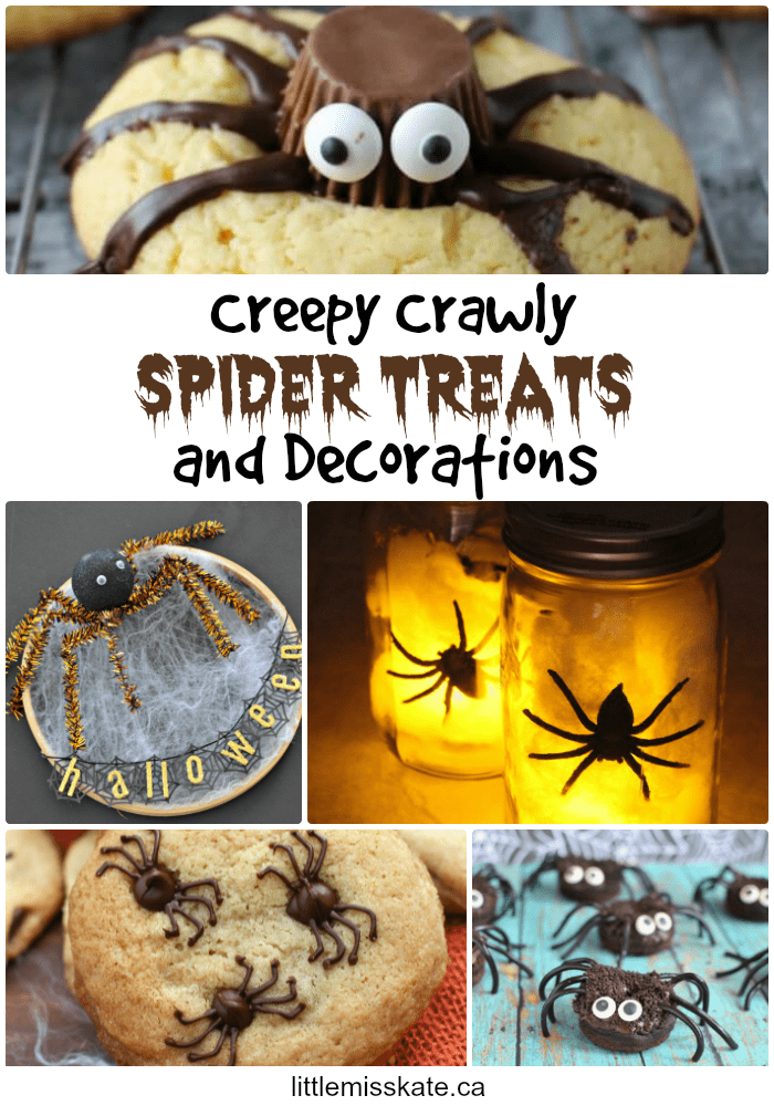 Halloween Ideas Spider Treats and Decorations via LittleMissKate.ca