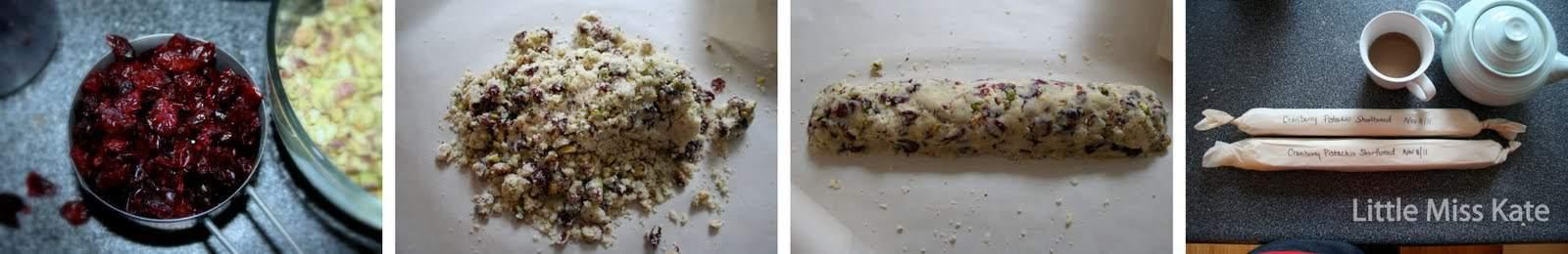 how to make Cranberry Pistachio shortbread Cookies Recipe via littlemisskate.ca