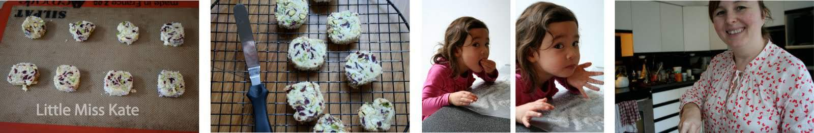 Cranberry Pistachio shortbread Cookies Recipe via littlemisskate.ca
