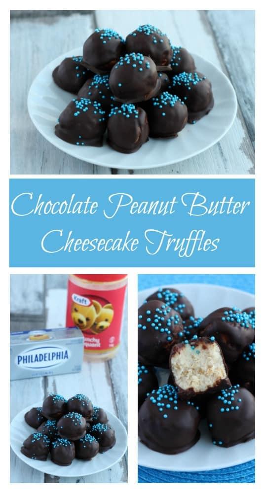 Easy Chocolate Peanut Butter Cheesecake Truffles Recipe ...