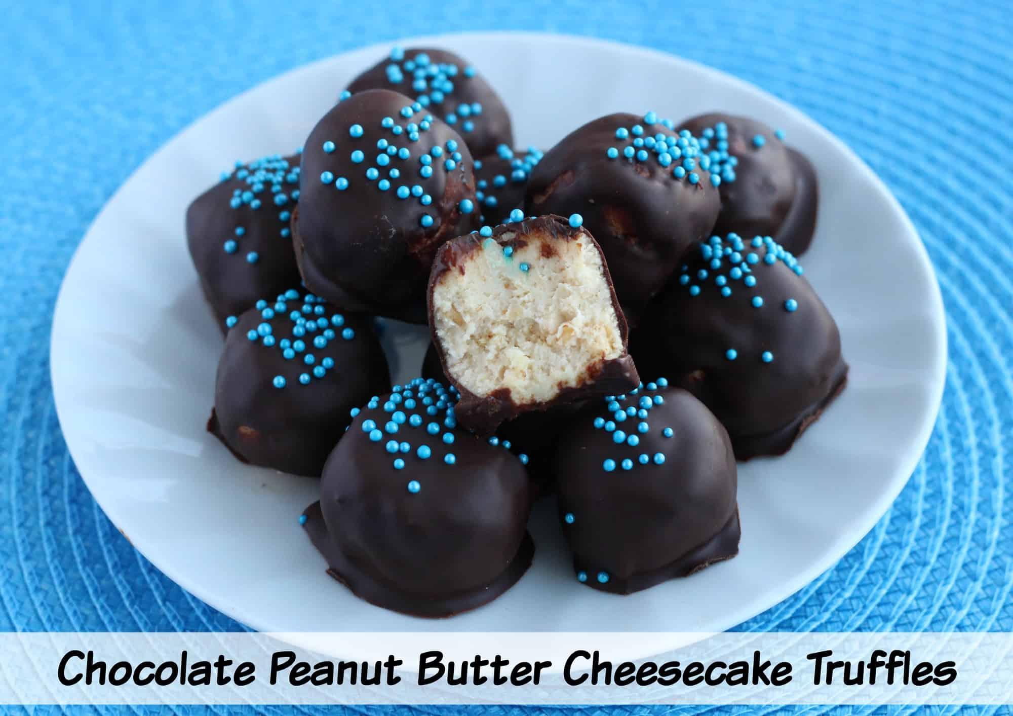 Easy Chocolate Peanut Butter Cheesecake Truffles Recipe