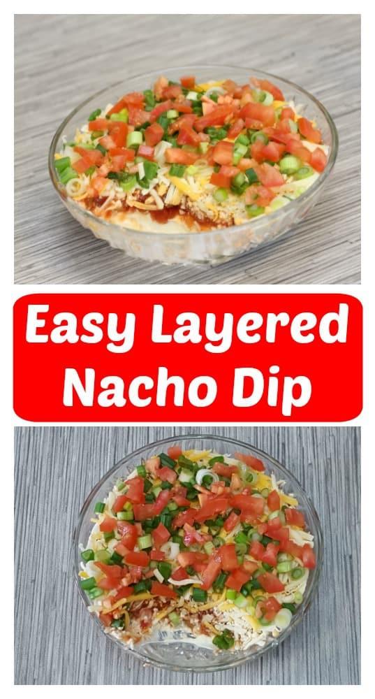 easy layered cream cheese nacho dip