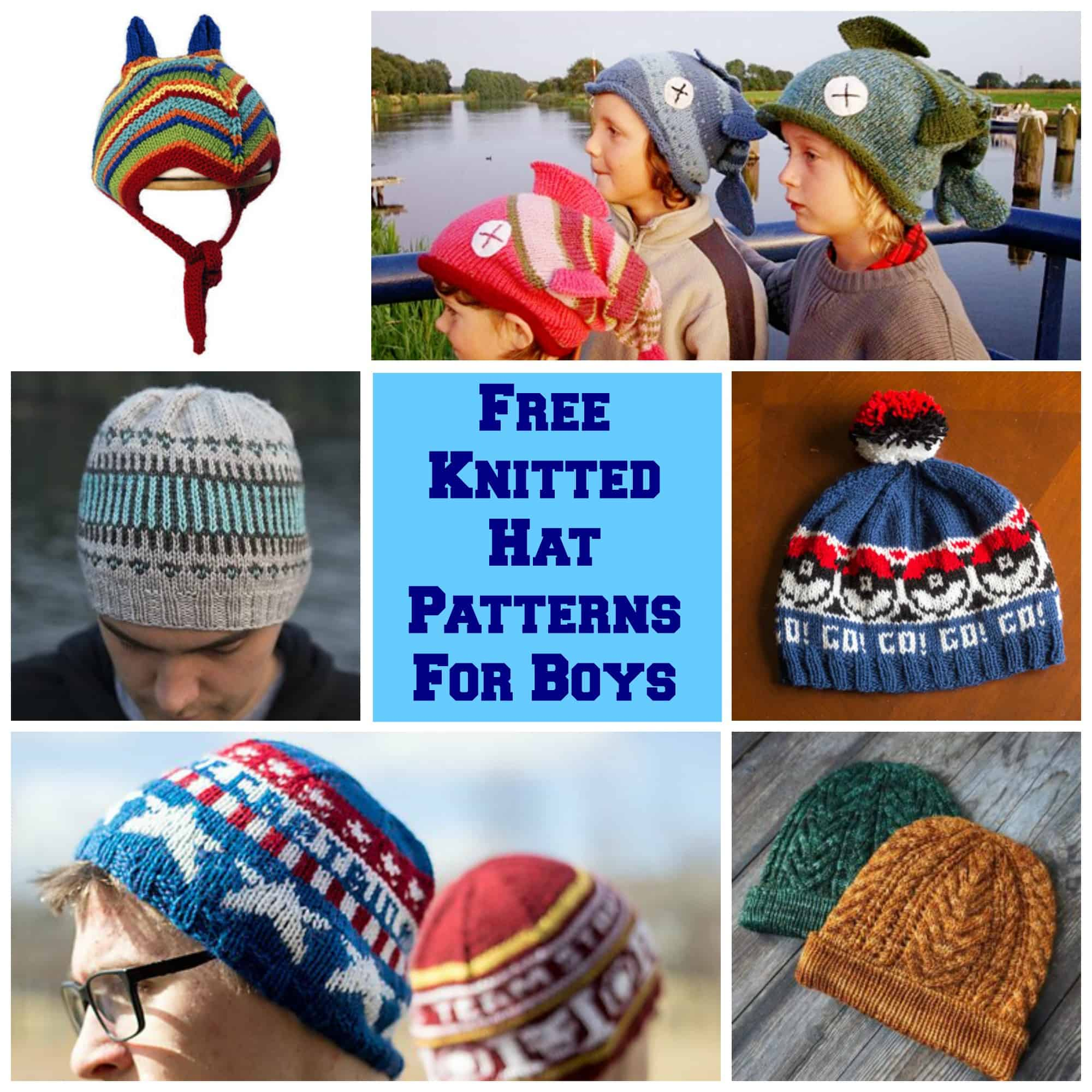 The HUGE List Of Free Knitted Hat Patterns For Boys via LittleMissKate.ca 9e9848819c7