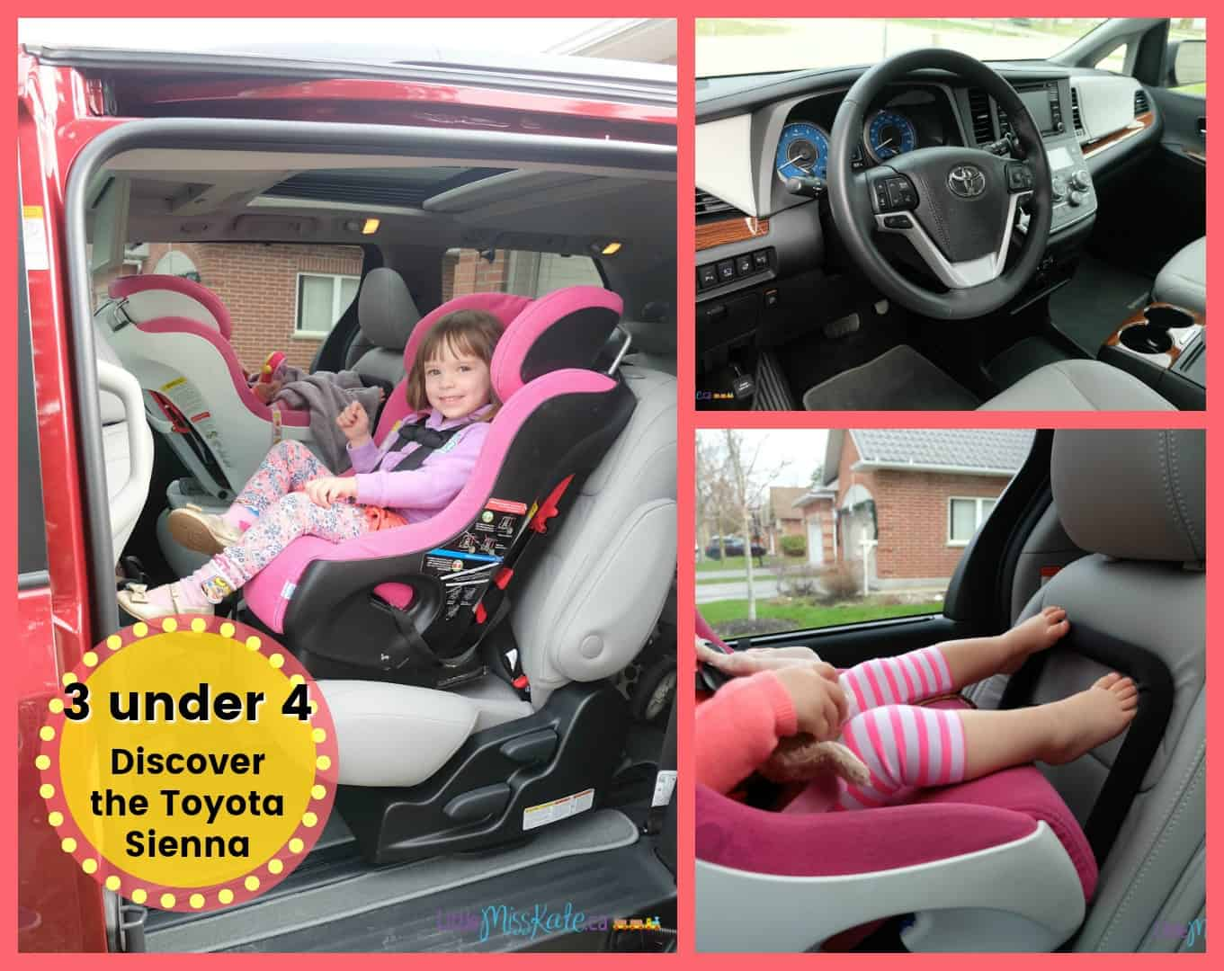 How To Get Around With Three Kids Under Five: Discover the Toyota Sienna 2018 Review