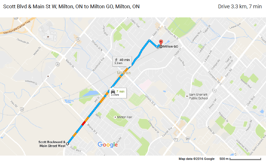 milton santa claus parade route