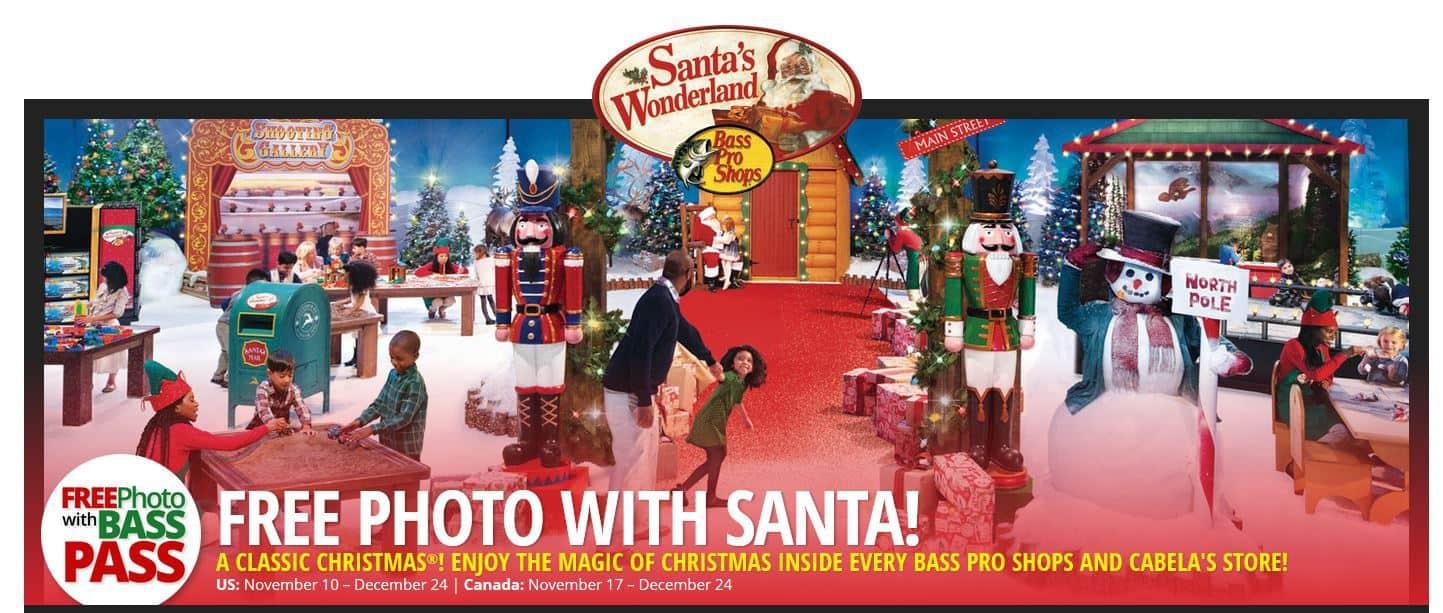 Bass Pro Shops Vaughan Toronto Free Photos with Santa