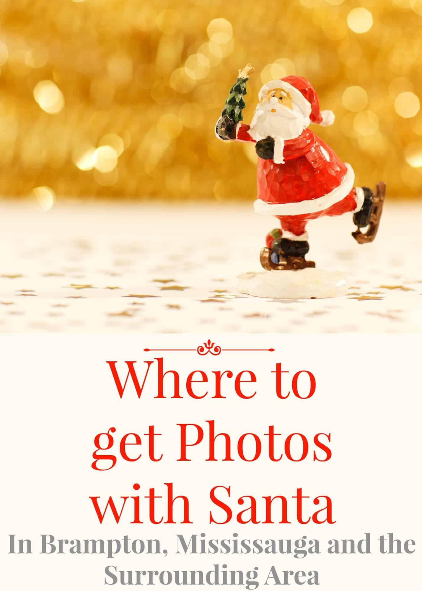 Where to Get Santa Photos in Brampton, Mississauga and Surrounding Area
