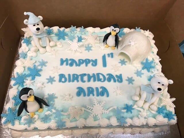 Winter Onederland First Birthday Cake