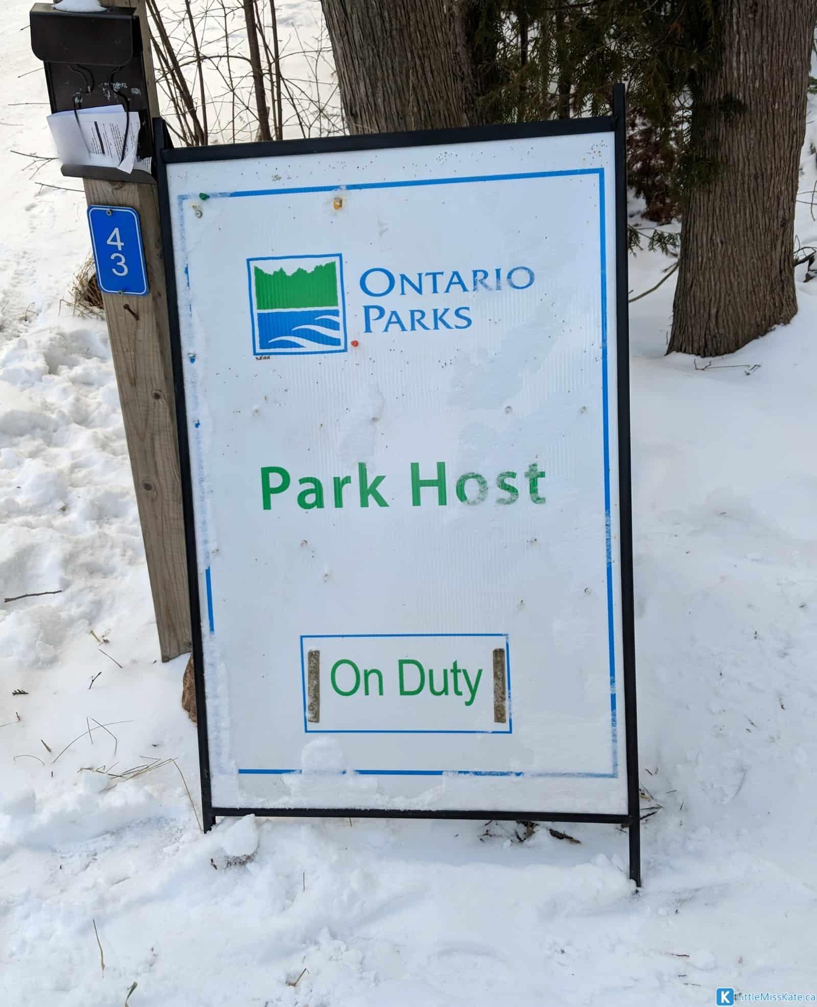 Ontario Parks Park Host MacGregor Point Provincial Park