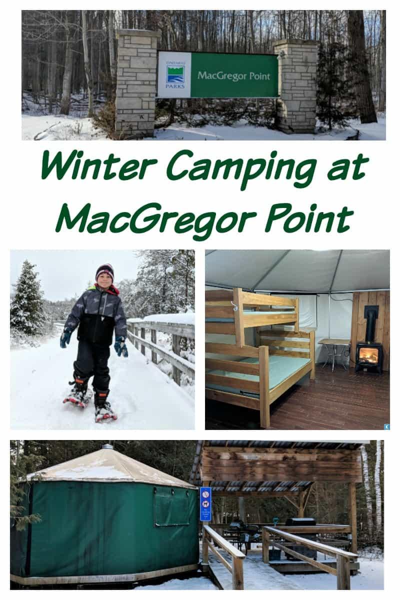 Winter Camping Ontario MacGregor Point ontario Oarks Yurts