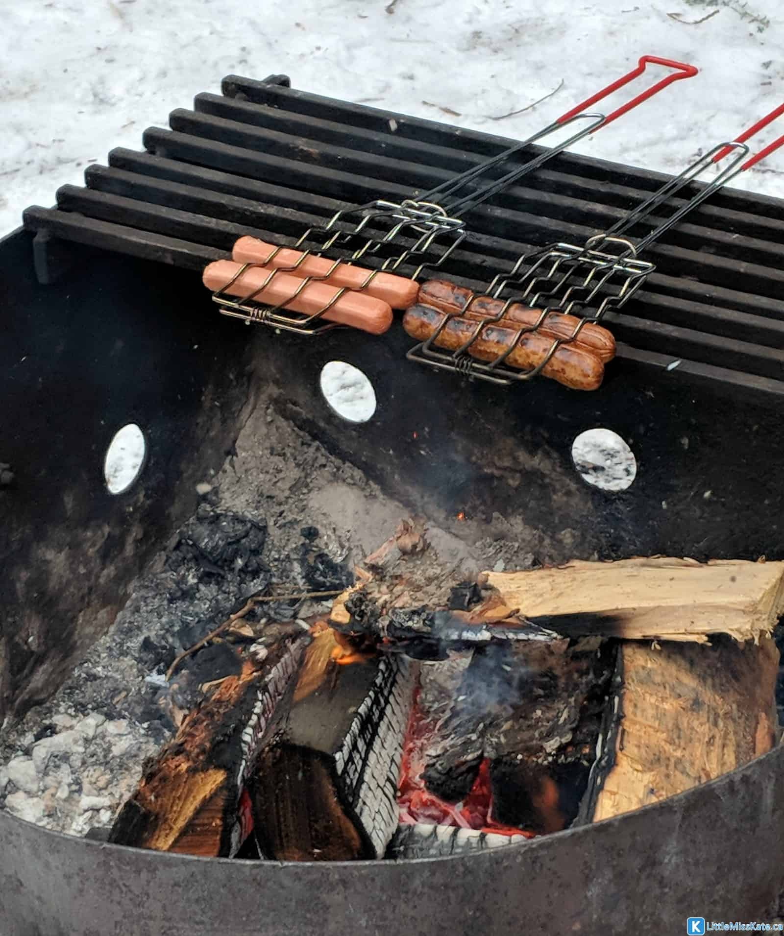 How do you cook when winter camping in a yurt - winter camping meal ideas fire pit