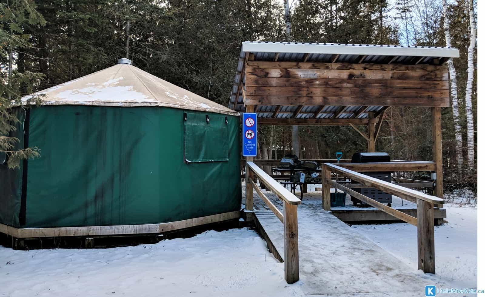 Glamping Ontario MacGregor Point Provincial Park Yurts