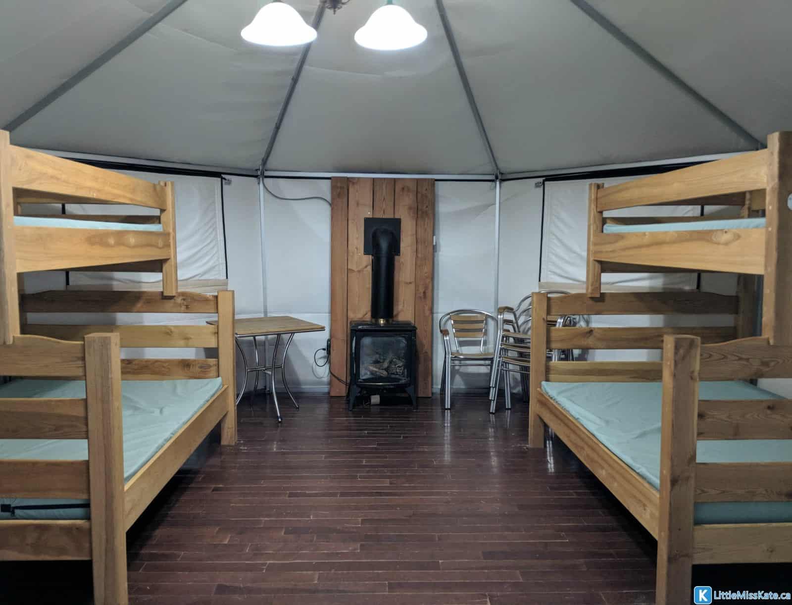 Winter Camping Ontario MacGregor Point Provincial Park Yurts