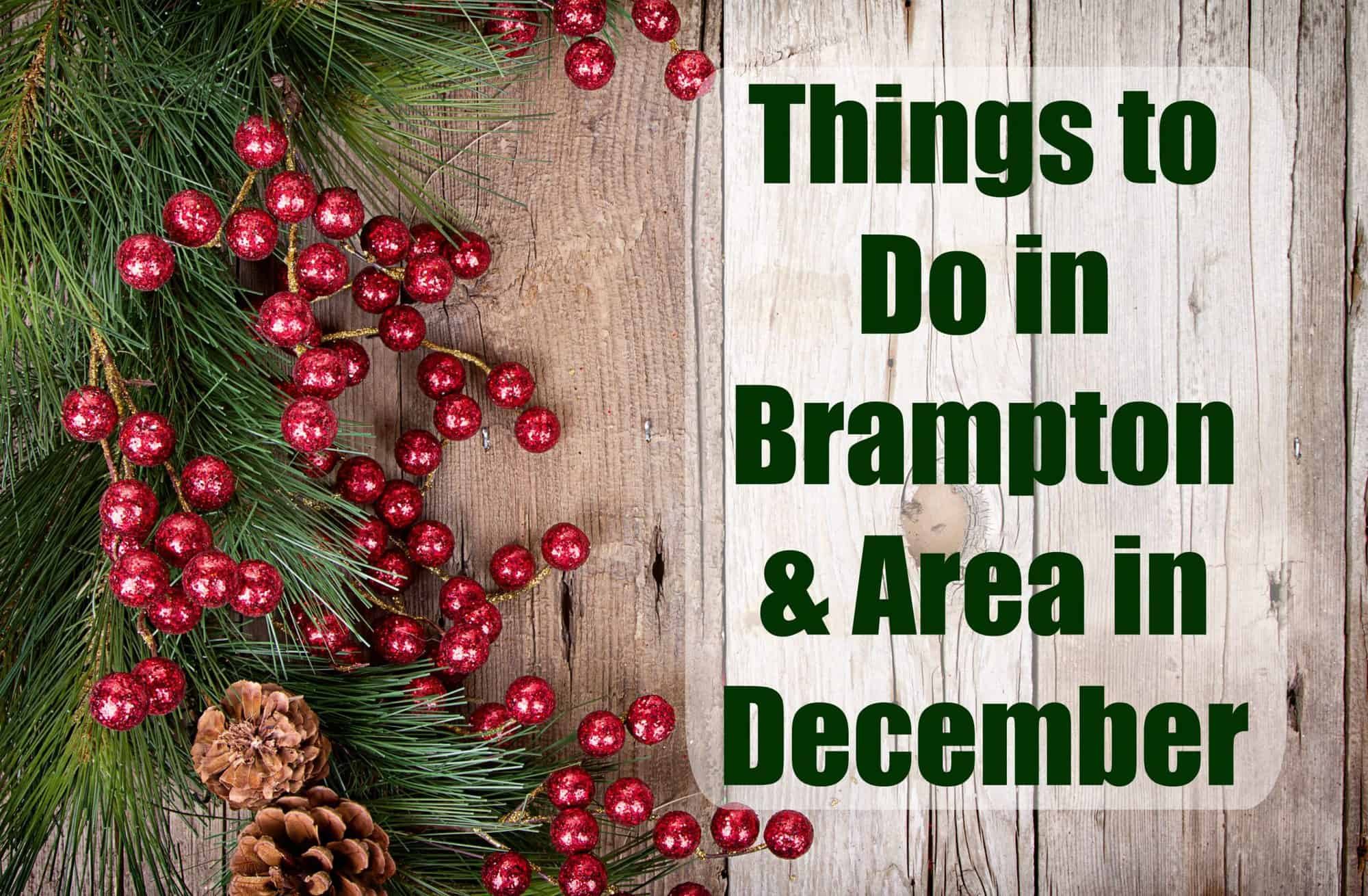 Amazingly Fun Things to do in Brampton, Mississauga and Georgetown in December