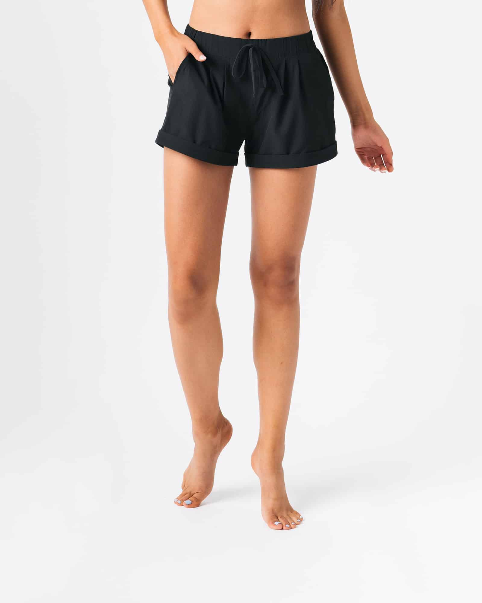 zyia black summer shorts