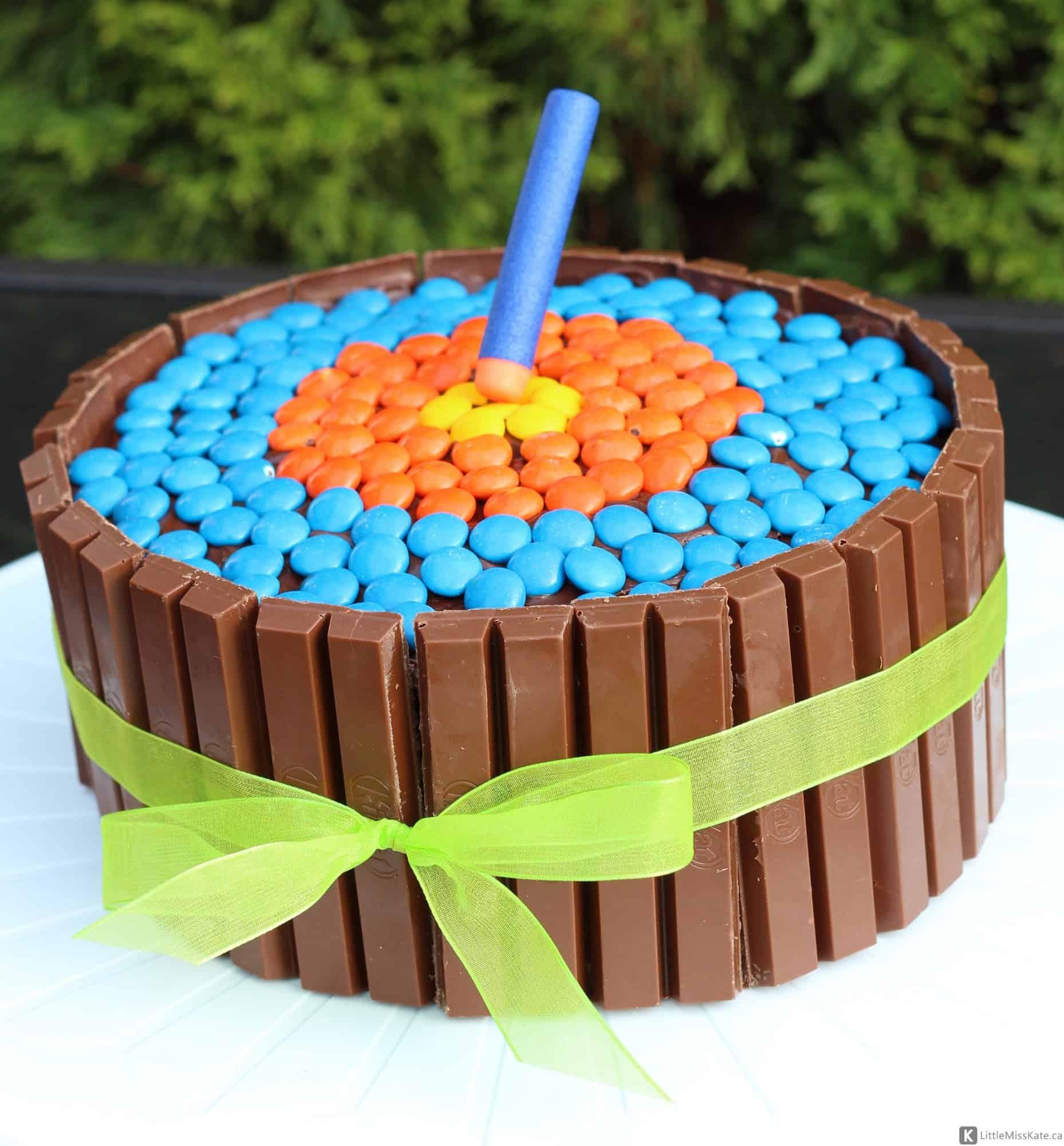 How to Make an Easy Nerf Gun Cake idea cake mix birthday cake kit kat cake