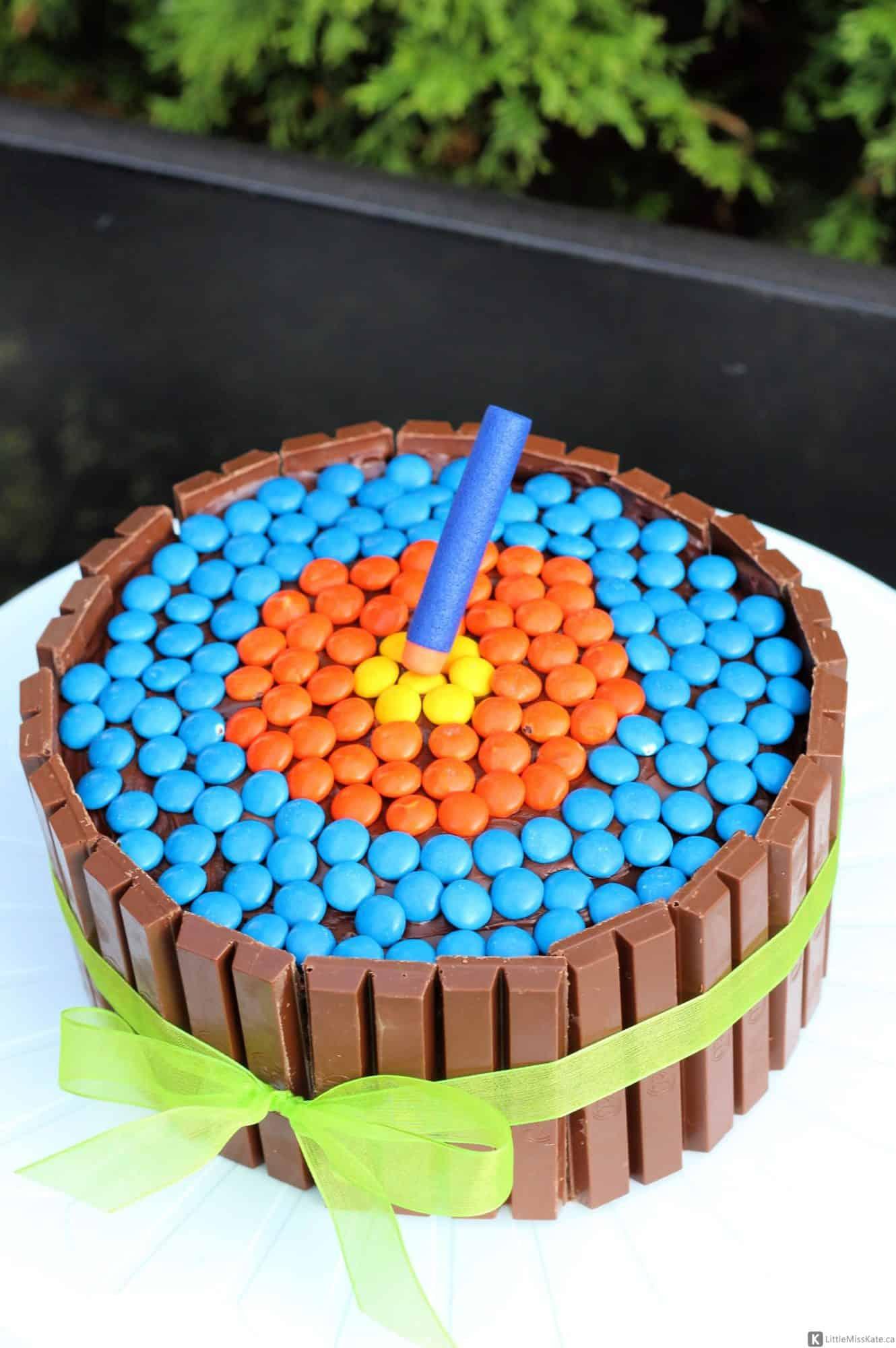 easy nerf birthday cake idea cake mix birthday cake kit kat cake