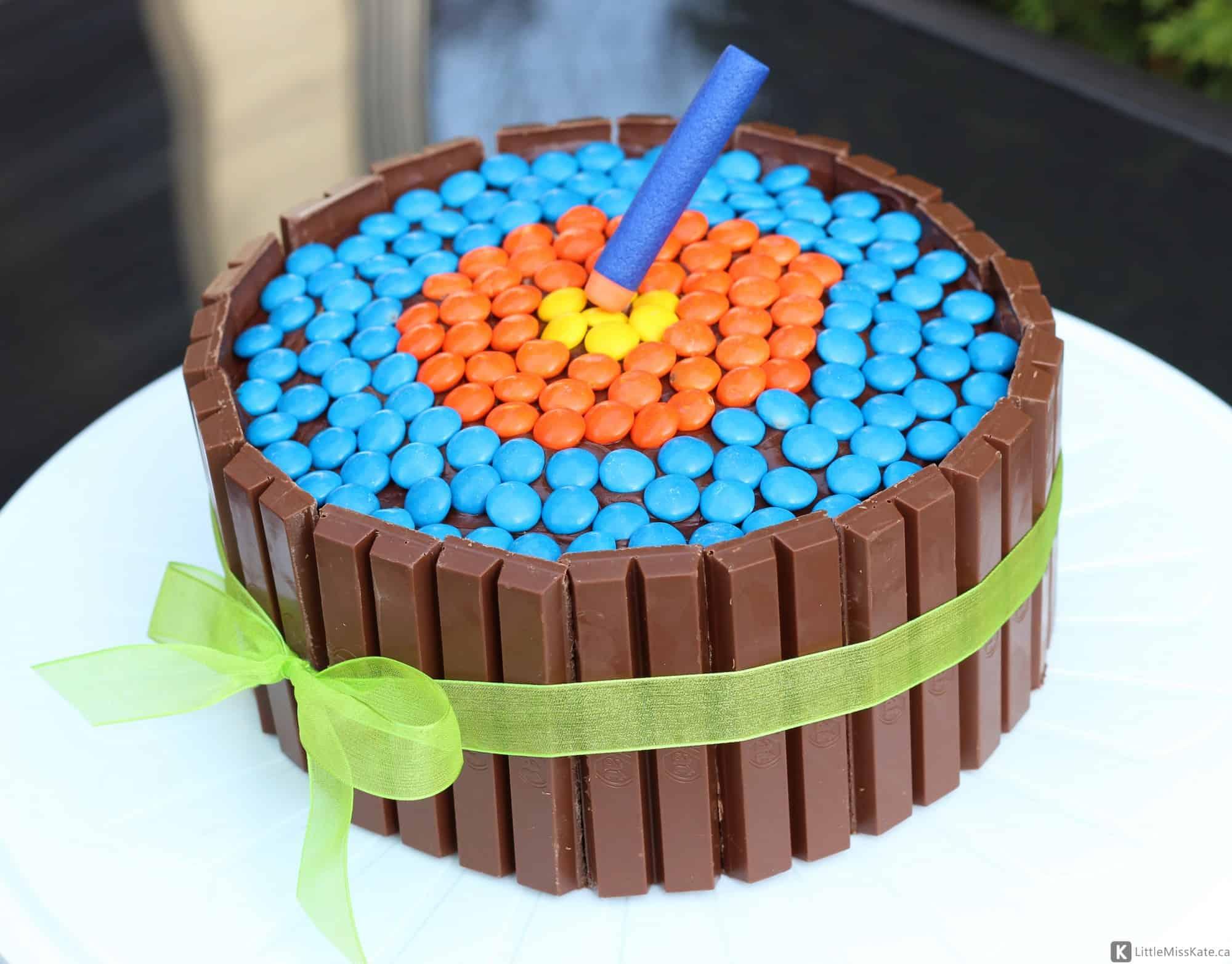 Nerf War Birthday Party easy nerf birthday cake ideas nerf gun cake