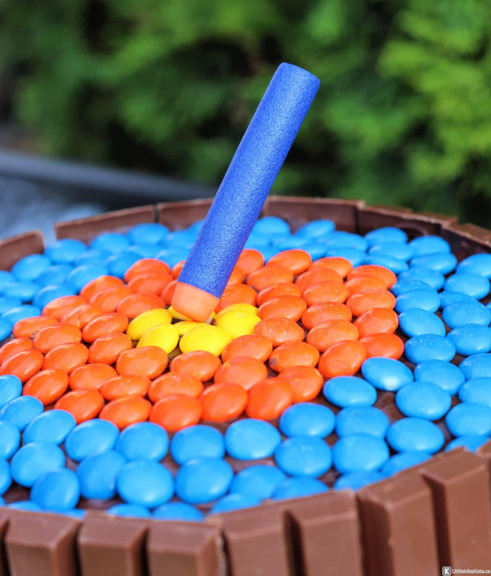 Easy Nerf Gun Cake Topper Cake Idea