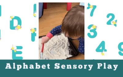 Mermaid Themed Alphabet Sensory Play Activity – Free Alphabet Printables